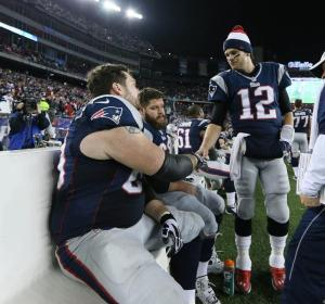 Brady & his OL